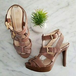 COACH STEFANIE Platform Sandals Buckle Strap Heels